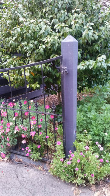 a gate post for the driveway fencing in Hamilton NZ